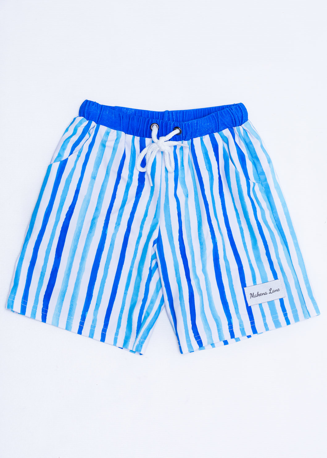 Striped Boys Swim Trunks