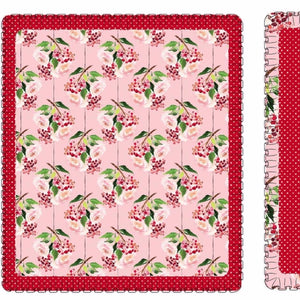 Pink Holly Berry Blanket