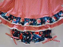 Load image into Gallery viewer, Wintergreen Rose Gown +Bloomers set (6m-14yrs)