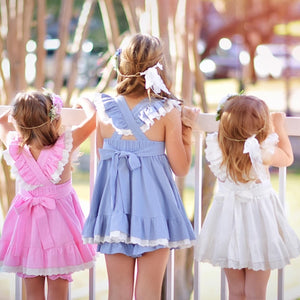 Valor Pinafore  (Pink, White, Blue)