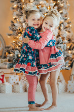 Load image into Gallery viewer, Wintergreen Rose Tunic + Joggers GIRLS set (size 6m up to 14yrs)