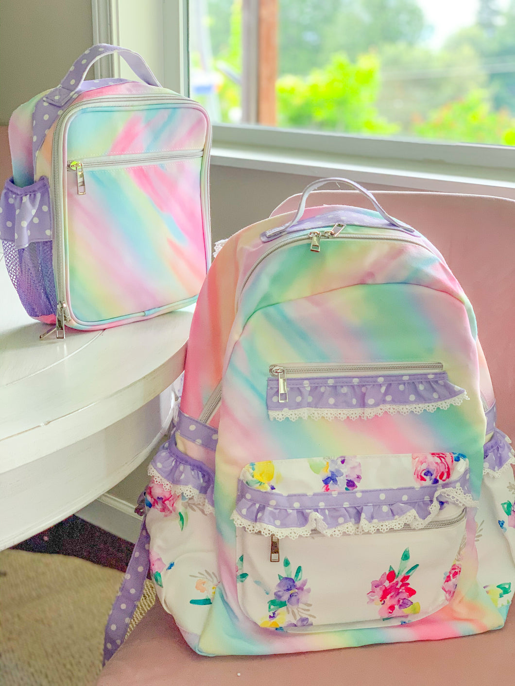 Ombré Rainbow Backpack & Lunchbag Set