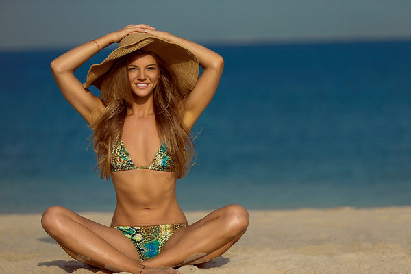 Slither on the Beach in Style with a Snake Print Bikini