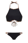 Animal Instinct Halter Crop Bikini Top