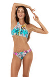 Tribal print sports bikini