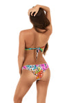 tribal toucan print bandeau bikini bottoms