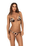 string mix animal print bikini