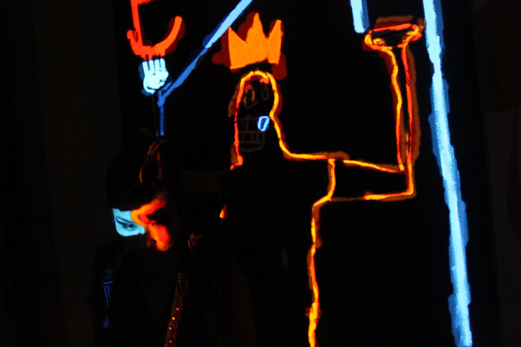 Light Painting with Basquiat & the Japanese Princess