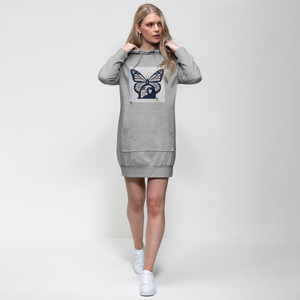 peach transparent logo Premium Adult Hoodie Dress