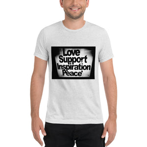 Love, Support, Inspiration, Peace short sleeve t-shirt