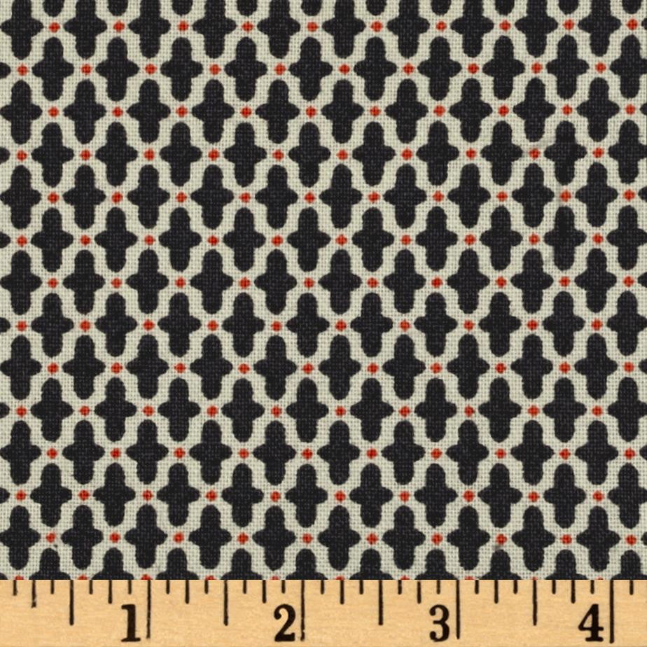 Candleabra - Freespirit Fabrics - Black funky cross