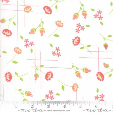 Lulu Lane Floral Meadow White - Modern Vintage Quilt Shop
