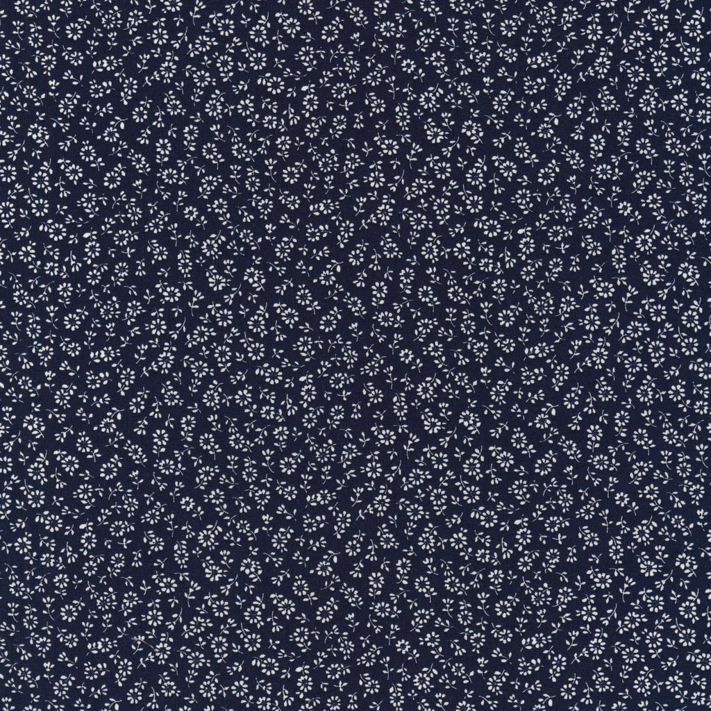 Navy Sevenberry Petite Garden Collection from Robert Kaufman - Modern Vintage Quilt Shop
