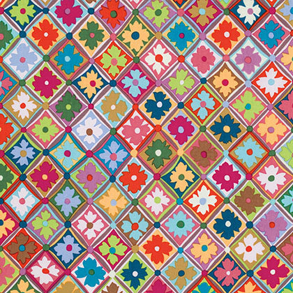 Kaffe Fassett for FreeSpirit Fabrics - Antwerp Flowers Multi - Modern Vintage Quilt Shop