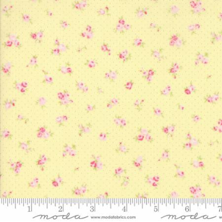 Fleurs - Bitty Flowers - Yellow - Modern Vintage Quilt Shop