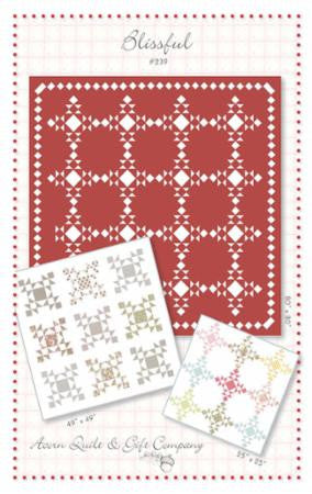 Blissful paper pattern from Brenda Riddle - Modern Vintage Quilt Shop