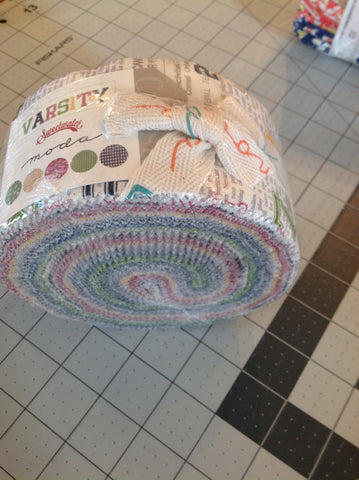 Varsity Jelly roll by Sweetwater for Moda - Modern Vintage Quilt Shop
