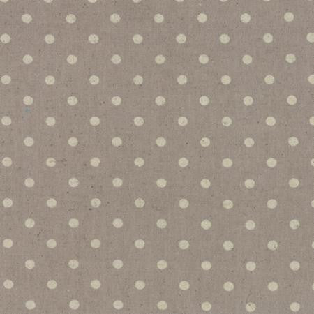 Linen Mochi Dot in Putty from Momo for Moda - Modern Vintage Quilt Shop