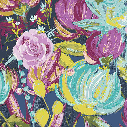 Painted Desert Night from Sage by Bari J. for Art Gallery Fabrics - Modern Vintage Quilt Shop