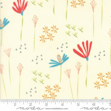 Wildflower in Natural - Desert Bloom by Sherri Chelsi for Moda - Modern Vintage Quilt Shop