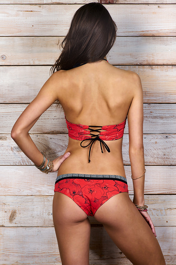 Bodni Red Poppies Bottom