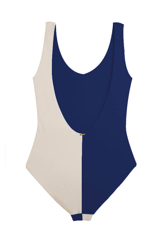 Ari Navy Beige One Piece