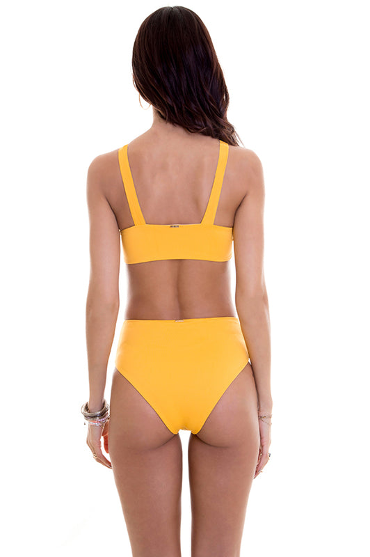 maylana high waisted bottom provides moderate coverage at rear