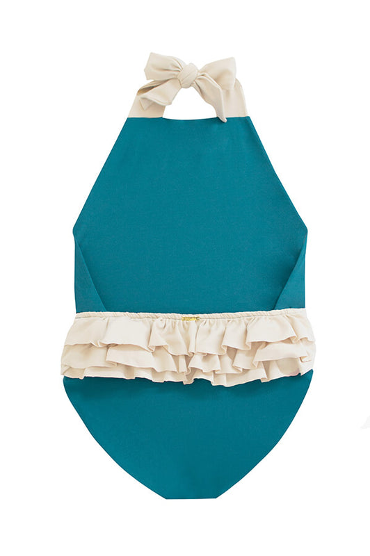 Layla Emerald Beige One Piece