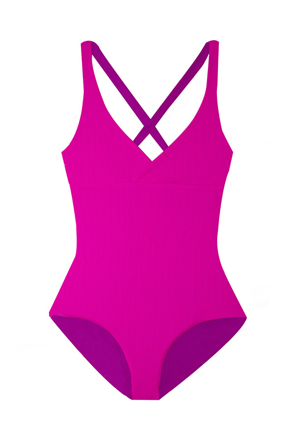 Collins Pop Ribbed One Piece