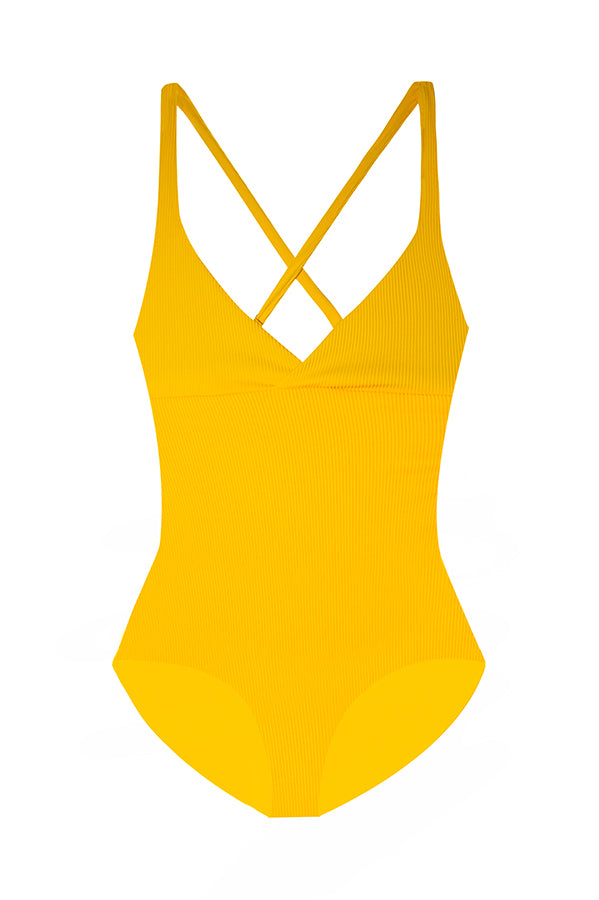 Collins Golden Ribbed One Piece