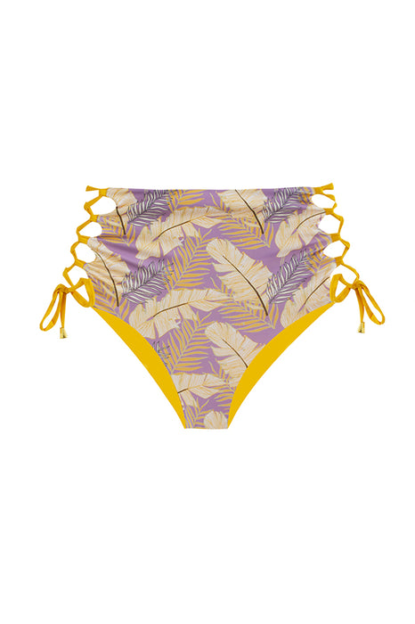maylana tropical swimsuit high waisted bottom reversible to golden