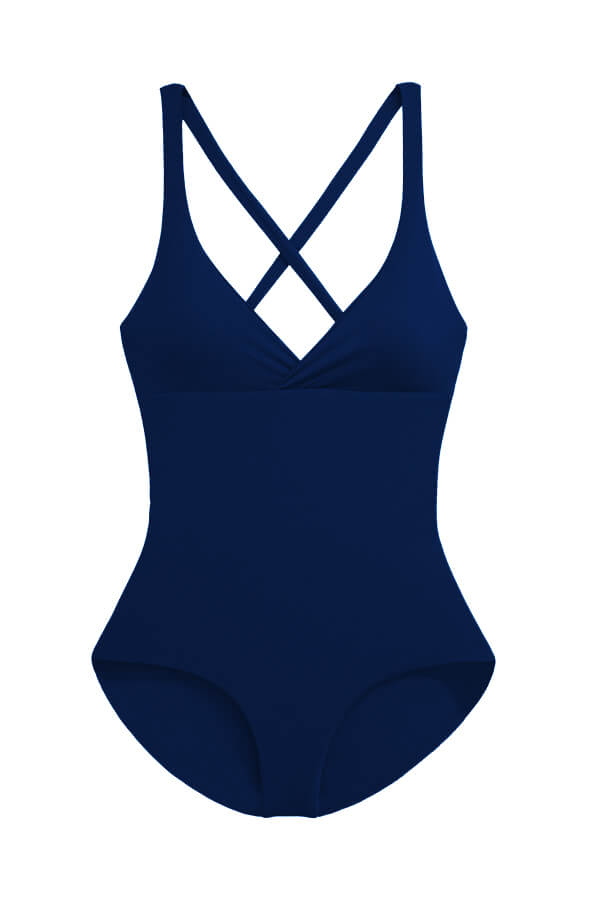 Maylana women one piece features racerback design with full coverage at rear
