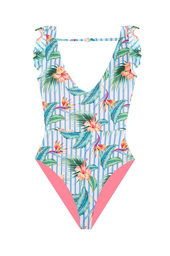 Barb Heliconia Stripes One Piece