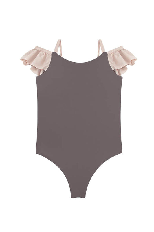 Maylana girl one piece swimsuit with ruffles