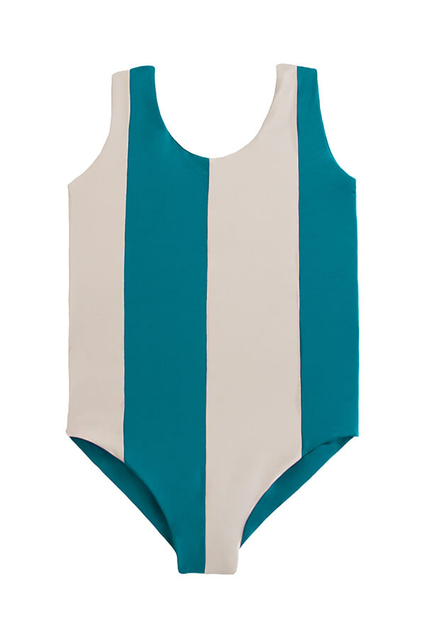 maylana girl one piece swimsuit with color block design