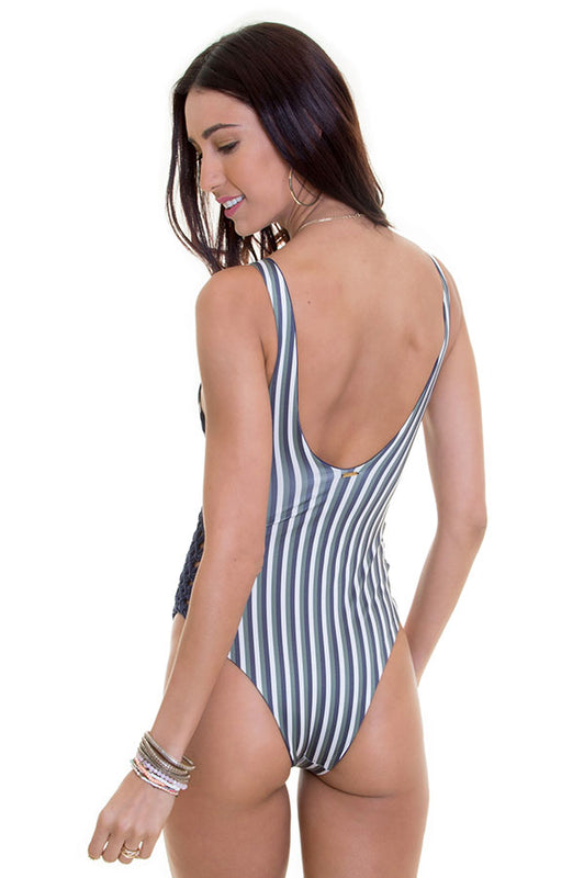 Jess Autumn Stripes One Piece