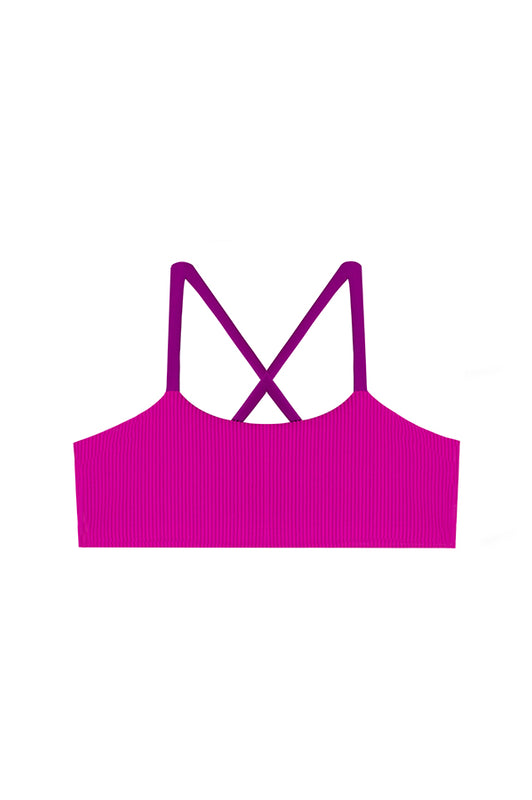 Maylana kids bralette top with fuchsia color