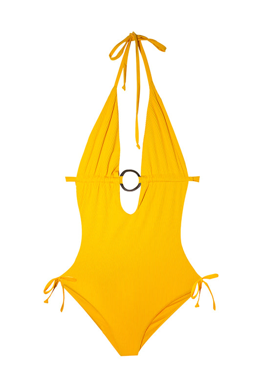 maylana swimwear neon textured fabric monokini