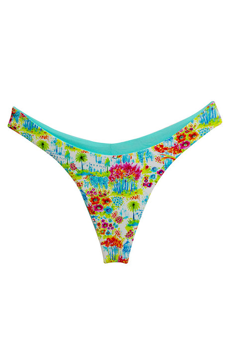 maylana swimsuits floral  reversible bottom brazilian high cut design