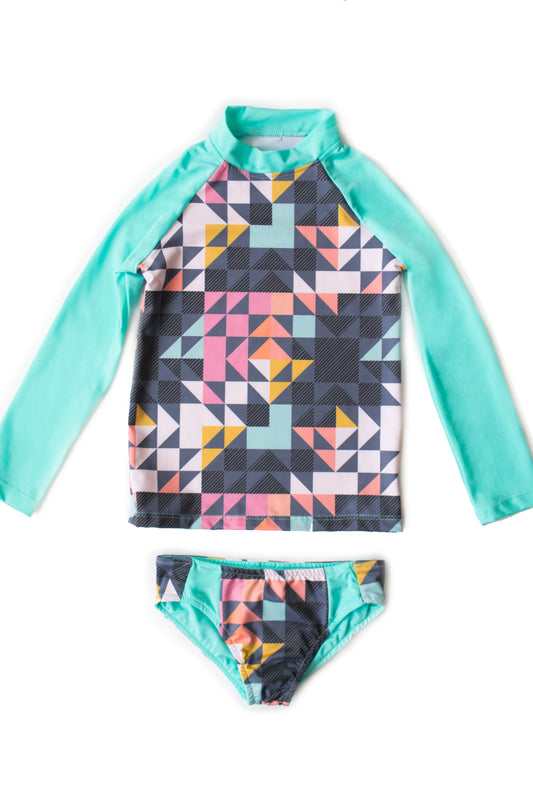 Maylana kid's swimwear with long sleeves and high neck