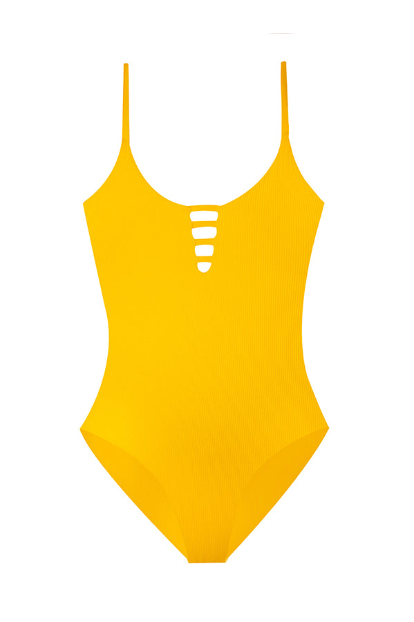 Stasia Golden Ribbed One Piece