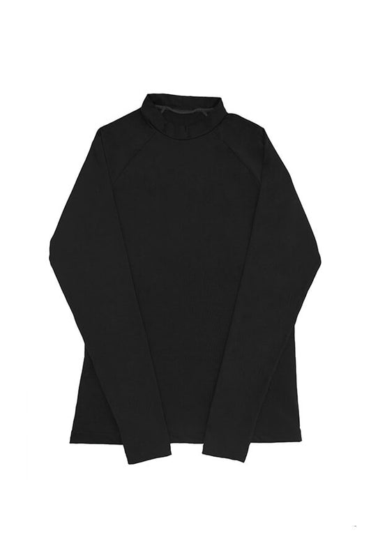 maylana black long sleeves top with high neck design