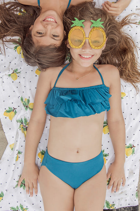 maylana kids bikini top with ruffles