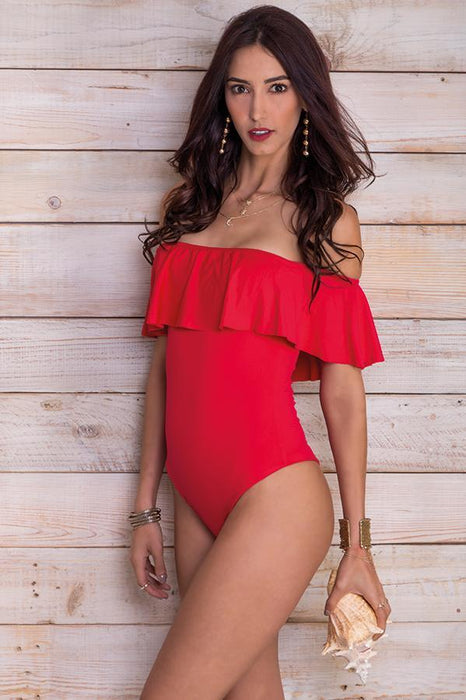 Alegra Cherry Red One Piece