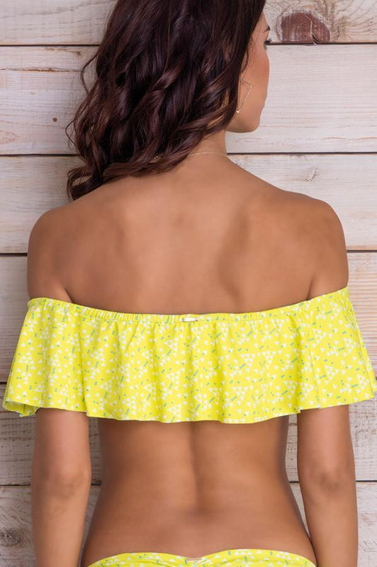Cora Yellow Triangles Top