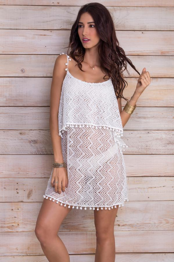 Giulia White Lace Dress