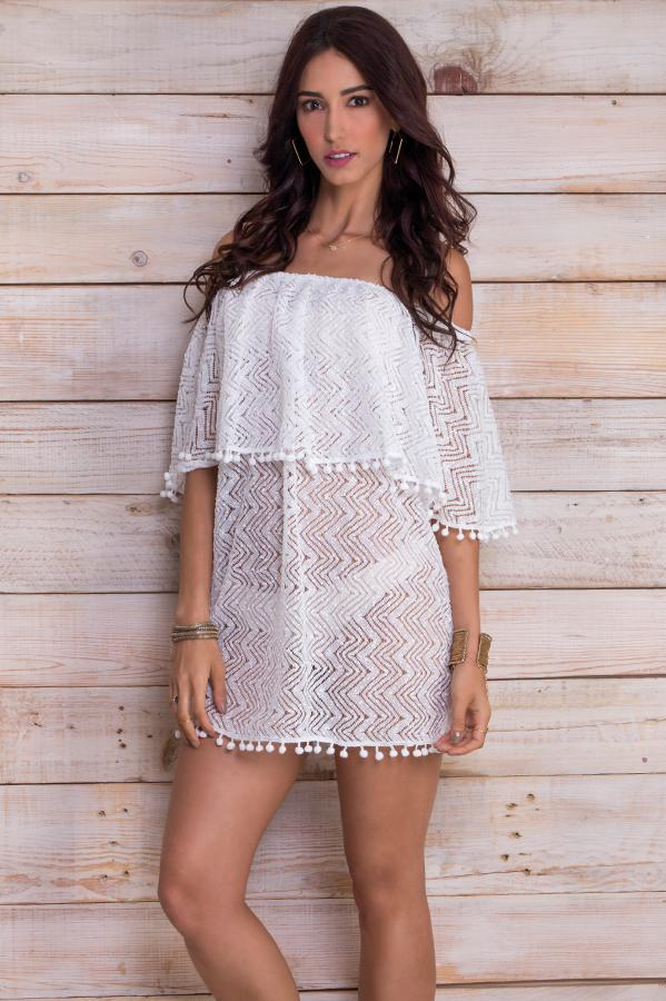 Ziva White Lace Dress