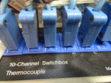 10 Channel Thermocouple Probe Switchbox with Type T Leads