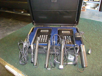 Lot of 2 SOLOMAT MPM 4100 Enviromental Monitoring System w/ 4 Probes & case
