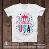 4th of July Shirt - Little Miss USA - Stockberry Studio